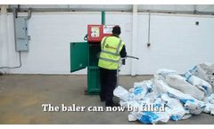 Gradeall G-eco 50-S Single Chamber Small Cardboard Waste Baler, Plastic, Paper - Recycling Machine - Video