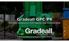 Gradeall GPC P9 portable compactor with tipping skip feed- Video
