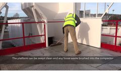 Gradeall Static compactors with drive on hopper - Video