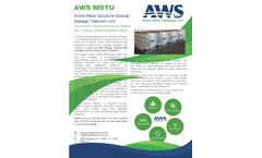 AWS - Model MSTU - Modular Sewage Treatment Unit - Brochure