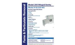 Model SS-200-WS - Benchtop Fume Extractor Brochure