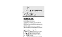 Aerosolv - Model 5000 - Aerosol Can Disposal System - Manual