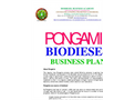 PONGAMIA BIODIESEL BUSINESS PLAN: BBA's Professional Business Plan Service