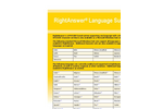 RightAnswer Language Support Brochure