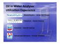 Oil in Water Analyser Utilization Experience - Brochure