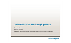 Online Oil-in-Water Monitoring Experience - Brochure
