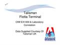 OIW v Lab Correlation Report- Talisman Energy - Brochure