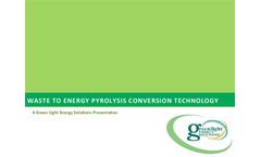Waste Conversion Pyrolysis Presentation Brochure