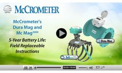 Replacing the Battery in McCrometer`s Dura Mag and Mc Mag3000 - Video