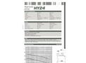 Dragflow HY24 Hydraulic Submersible Agitator Pump Datasheet