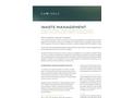 Waste Management - Datasheet