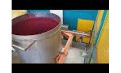 EWB/Sv - Brush- and high pressure washing machine for open mixing tanks by C.E.B. Impianti Video
