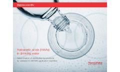 Validated Haloacetic Acids Analysis (HAAs) IC/MS Workflow - Brochure