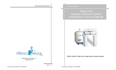 Value Line - Reverse Osmosis System Installation & Service Manual