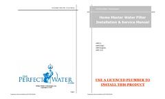 Home Master- 2 Stage Fine Sediment & Carbon Filter Brochure