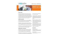 On-Site Chemical Inventory Audit Services- Brochure