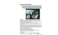 Tunnel Boring Machine (TBM) Spec Sheet