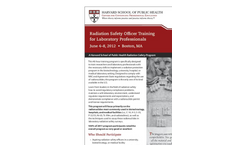 Radiation Safety Officer Training for Laboratory Professionals