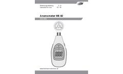 Dostmann - Model MS 82 - Mini-Anemometer - Manual