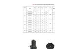 DeTech - Model DV Series - Vortex Impeller Pump - Technical Datasheet