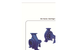 DeTech - Model XA Series - End Suction Centrifugal Pump - Brochure