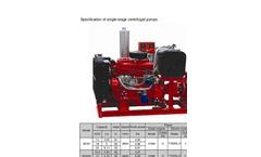 DeTech - Fire-fighting Pump Set - Specification Sheet