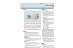 Siemens Ultramat/Oxymat - Model 6 - Continuous Gas Analyzer - Brochure