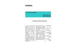 Monitoring of Sulfur Constituents - Application Note