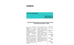 Simultaneous Determination of Alcohols, Ketones, Aromatic and Chlorinated Hydrocarbons in Water - Application Note