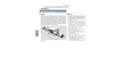 Siemens Sitrans - Model SL - Laser Diode Gas Analyzer - Brochure