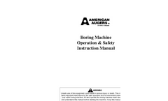 Boring Machine Operation & Safety Instruction Manual