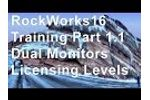 (OBS 9) RockWorks16 Training 1.1 - Dual Monitors & License Levels Video