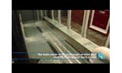 UKFB Self Activating Flood Barrier in Test Tank