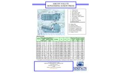 Amcon Volute Dewatering Screw Press - Specifications Sheet