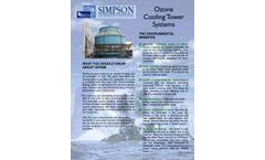 Ozone Cooling Tower Systems - Specification Sheet