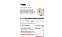 4 Inch - Sanitary Nanofiltration Elements – Specification Sheet