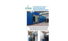 Containerized Potable Water Treatment and Tertiary Treatment Plants - Brochure