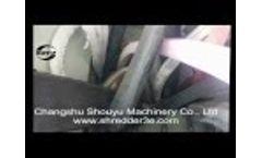 SOYU Single shaft shredder,shredding HDPE
