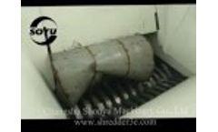 SOYU Two shaft shredder ,shredding iron pail