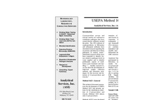 Cryptosporidium/Giardia Testing (USEPA Method 1623) Brochure