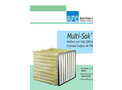 Koch - Model Multi-Sak™ - Medium and High Efficiency Extended Surface Air Filters - Brochure