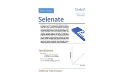 OndaVia - Model OV-PP-B005 - Analysis System With the Selenium Analysis Cartridge - Datasheet