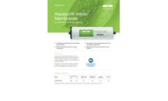 Aquaporin Inside - Model TWRO3012-600 - Reverse Osmosis Membranes Brochure