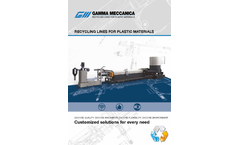 Gamma Meccanica plastic recycling lines