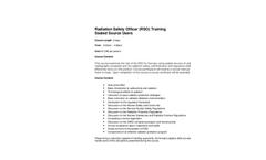 Radiation Safety Officer (RSO) Training - Brochure