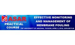 MASAR Training Course - EFFECTIVE MONITORING AND MANAGEMENT OF MEMBRANE FOULING COURSE