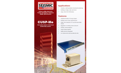 Model CUSP-Me - PoE Multi-channel Structural Monitoring System - Brochure