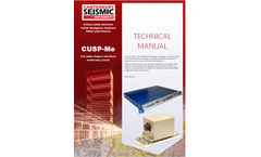 Model CUSP-Me - PoE Multi-channel Structural Monitoring System - Manual