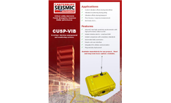 Model CUSP-VIB - Real-time Vibration Management and Monitoring System - Flyer