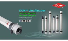 Horizon Water is an exclusive agent of Dow's UF & RO modules